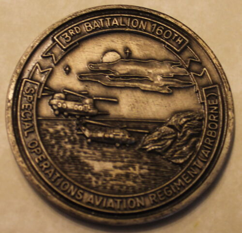 3nd Battalion 160th SOAR Night Stalkers Special Ops Army Airborne Challenge CoinOriginal Period Items - 156451