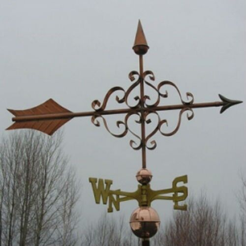 "COPPER LARGE  "" FANCY  ARROW "" WEATHERVANE  MADE IN USA #140"