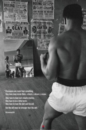 Muhammad Ali Training in the Gym Sports Boxing Poster Art Print 24x36 inch