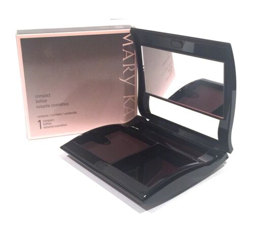 MARY KAY MAGNETIC BLACK COMPACT~UNFILLED~MEDIUM~NIB~COSMETIC MAKEUP~CUSTOMIZE