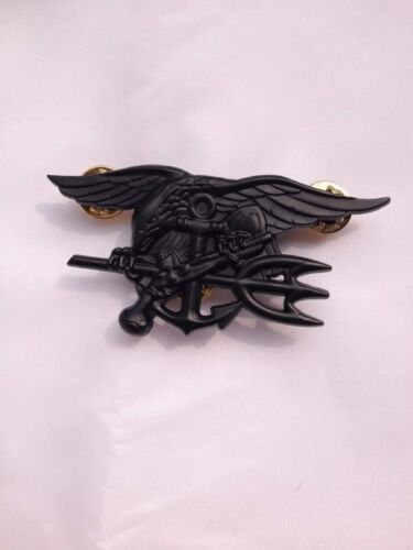 US Navy Seal Eagle Anchor Trident Metal Badge Insignia Black - US027Reproductions - 156452