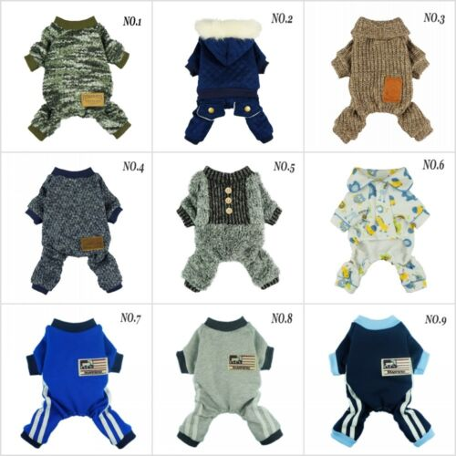 Fitwarm Pretty Boy Winter Coat Pet Clothes for Dog Warm Jumpsuit Hooded Jersey