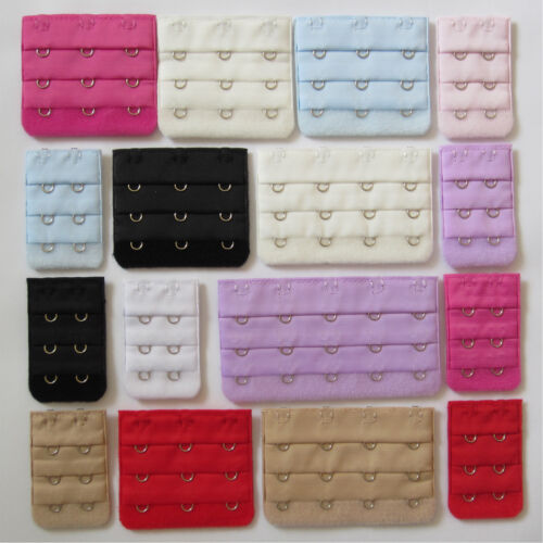 Ladies Bra Extender Bra Extension Strapless Underwear Strap 2, 3, 4, 5 Hooks <br/> Top Quality, Great Value and 8 Colours to Choose from