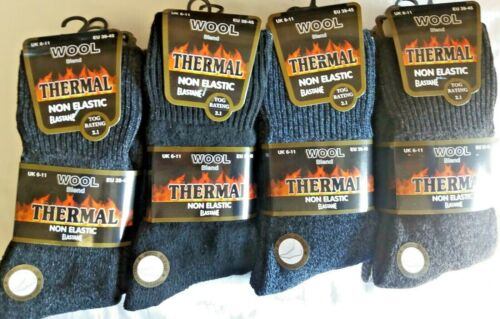 MENS BED SOCKS 6 PAIRS ASSORTED COLOURS MENS  THERMAL BED SOCKS