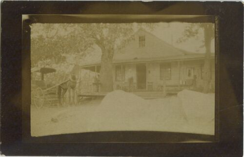 Postcard of Foresthill with Home and Buggy, California