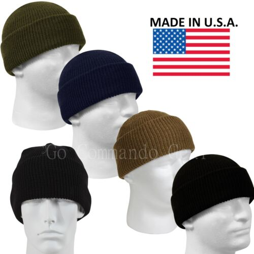 Genuine Military 100% Wool Watch Cap GSA Compliant Beanie Cap USA MADE