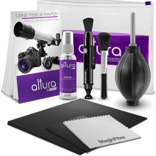 Altura Photo® Professional Camera & Lens Cleaning Kit for Canon Nikon Sony DSRL <br/> Includes Altura Photo Optical Solution & Big MagicFiber