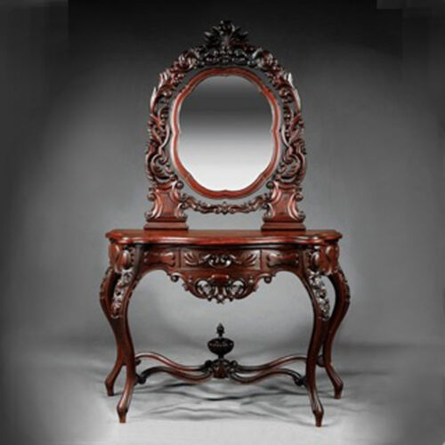 Rosewood Rococo Revival Inlaid Dressing Table, mid-19th c. #7780
