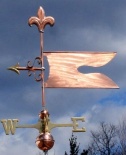 "COPPER   "" FANCY BANNER "" WEATHERVANE  MADE IN USA #414"