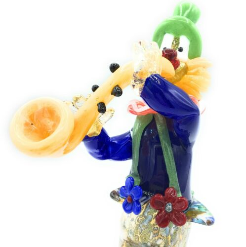 Clown Sculpture Collection Murano Glass H26cm Made in Italy Pagliaccio