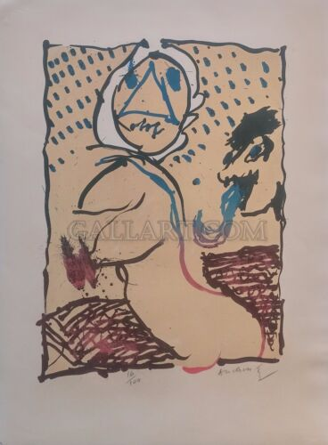 """PIERRE ALECHINSKY """"LA TAILLE DOUCE"""" 1969 