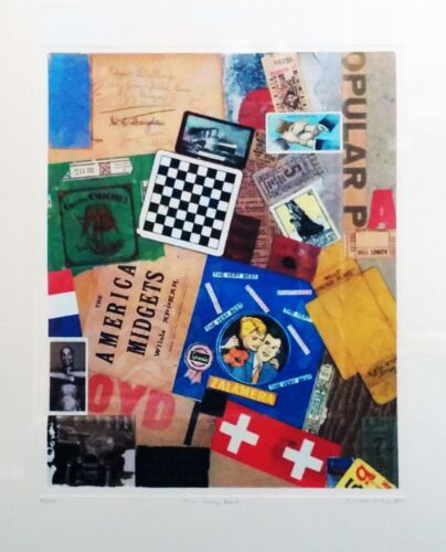 """PETER BLAKE """"THE VERY BEST"""" 2005   SIGNED SILKSCREEN COLLAGE   OTHERS AVAILABLE"""