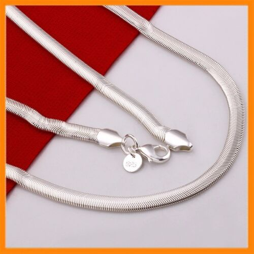 Stunning 925 Sterling Silver Filled 6MM Classic Snake Necklace Chain Wholesale <br/> Promotion! Half Price!! Limited quantity!! Hurry up!!!