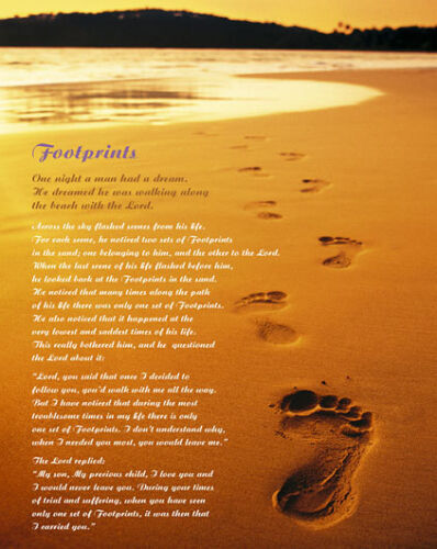 RELIGIOUS POSTER Footprints