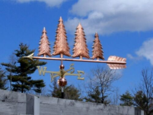 """LARGE 48""""  """"4 COPPER  TREES """" WEATHERVANE  MADE IN USA #413"""