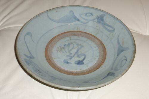 Top Quality Signed Antique Chinese Celadon Plate - 10.5""