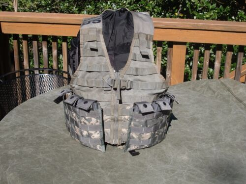 MOLLE II Fighting Load Carrier VEST w/ 2 Triple Mag Pouches FLC US Army ACU Other Current Field Gear - 36071
