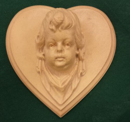 LARGE COMPOSITION/RESIN FURNITURE MOLD~ANGEL~CHERUB~GIRL~HEART~GREAT DETAIL!