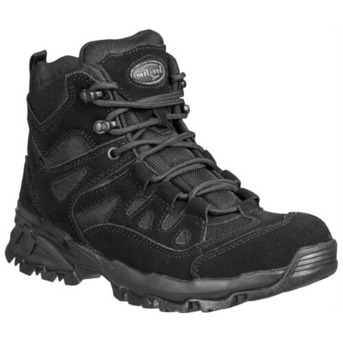 Black Low Short Military Squad Army Tactical Security Police Ankle Boots 4-12 UK