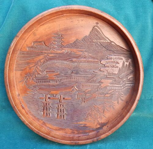 Japanese carved wood tray antiques us