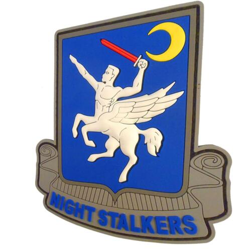 Night Stalkers Operation Red Wings 160th parche PVC rubber 3D fastener patchParches - 4725
