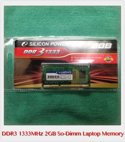Silicon Power DDR3 1333MHz 2GB CL 9 1.5v SODIMM Laptop Memory