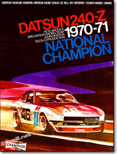 """1971 Championship 240Z Poster (24""""x32"""") sold by Peter Brock BRE!"""