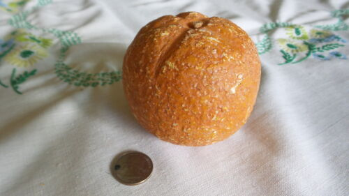 "Antique STONE FRUIT ORANGE 3"", Primitive,Vintage"