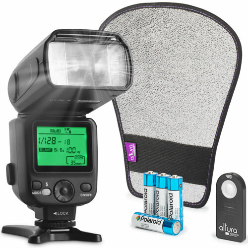 Altura Photo AP-UNV2 Bundle DSLR and Mirrorless Camera Flash Speedlite <br/> Best Reviews/ FREE Remote + Gifts / 1 Year Warranty