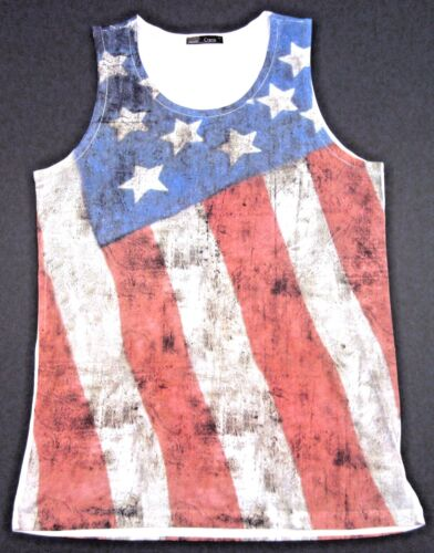 Old Glory Tank Top Vintage USA US Flag Stars Stripes Adult Men Small,Medium New