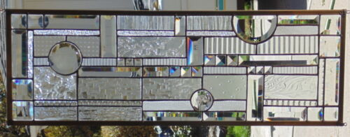 """Stained Glass Window Hanging 30 5/8 X 10 5/8"""""""