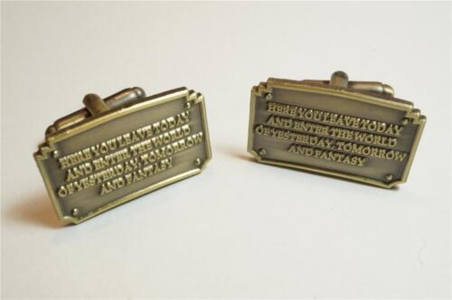 Disney Disneyland Walt Entrance Plaque Fantasy Wedding Cufflinks Cuff Links Set