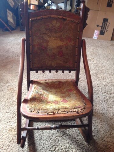 Antique Rocking Sewing Chair Antiques Us