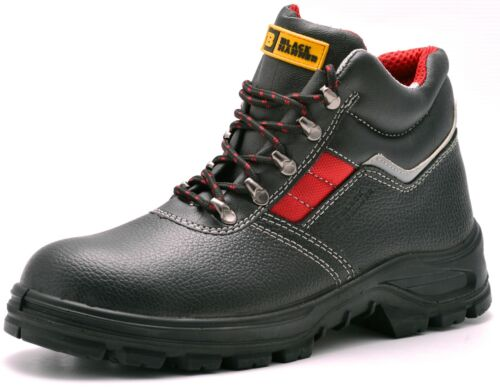 Leather Mens Safety Boots Steel Toe Cap Work Shoes Ankle Size S3 Rated 5-13 UK <br/> Black Hammer In Stock & Ready To Dispatch *RRP £39.99