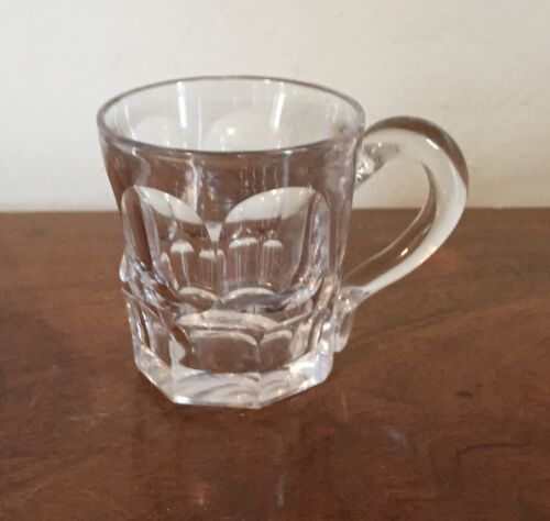 Antique 19th c. Ashburton Cut Glass Handled Punch Cup American Federal Empire