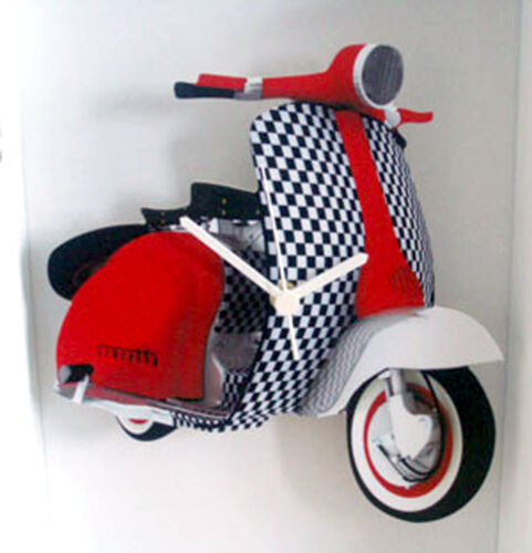 Scooter Wall Clock, Vintage Scooter Wall Clock, 60s Mod LI Scooter Wall Clock