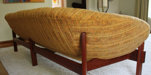 Mid Century Danish Modern Floating Teak Sofa