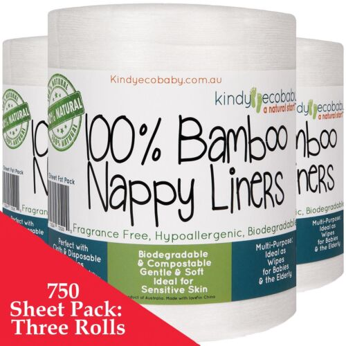 660 Flushable Bamboo Nappy Liners, disposable diaper liners, wipes, cloth nappy