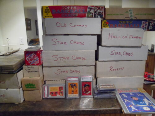 Liquidating Incredible Estate Find Of Vintage Sports Cards Plus Unopened Packs <br/> OVER $25 IN FREE CARDS PER LOT! FREE MANTLE CARD