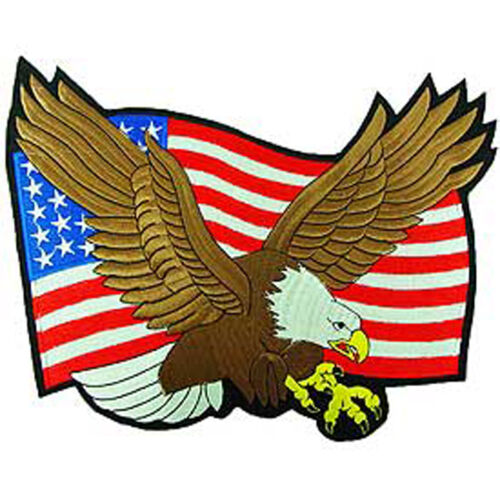 Flying Bald Eagle With American Flag Large PatchOther Militaria - 135