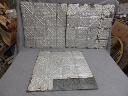 100 Sq Feet Salvaged Antique Tin Ceiling Decorative Pattern Old Vtg Torch 149-16