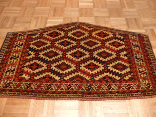 2 X 3 Hand Knotted Fine Antique Yamout Oriental Rug G1431