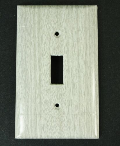 Vintage Sierra Electric Grey Oak Woodgrain Switch Plate cover NOS wood grain