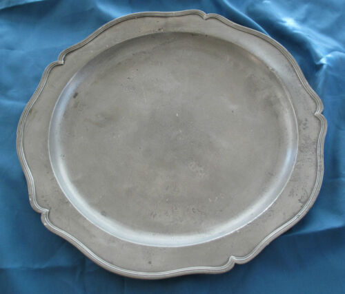 1700's GERMAN -  EARLY AMERICAN ANTIQUE  PEWTER CHARGER PLATE  BOSTON ESTATE