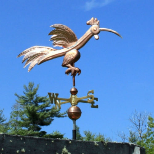 """COPPER   """" FANCY SILLY ROOSTER """" WEATHERVANE  MADE IN USA #324"""