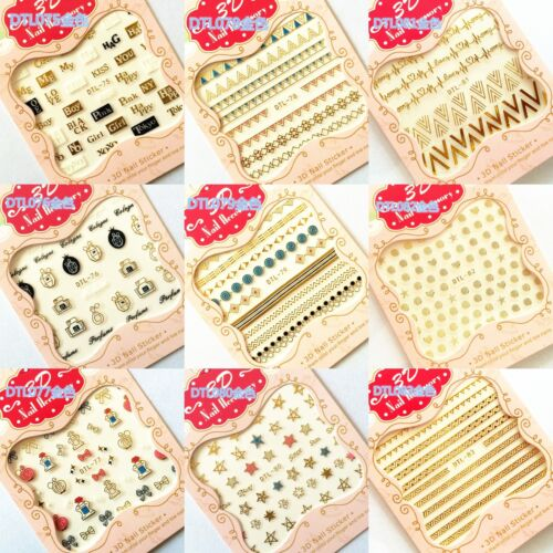 Fashion 3D Mix Nail Art Tips Stickers Decals Stamping DIY Manicure Decoration