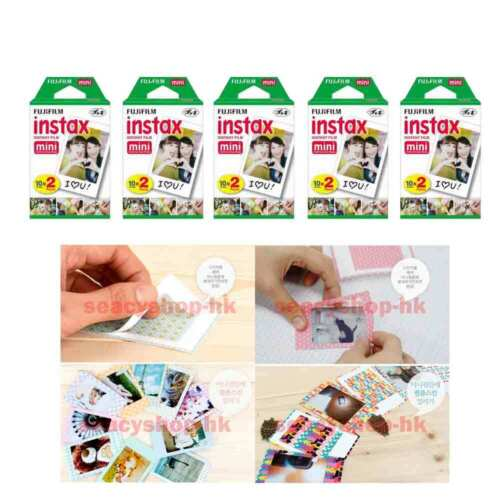 100 Pcs 10 Pack Fujifilm Instax Film Mini Fuji Photo Neo 90 8 9 25 7S 50s SP-1 <br/> Send By Registered AirMail+Online Tracking+Gift Sticker
