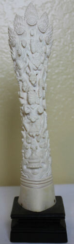 Vintage Bone Carving Statue Thai Deities