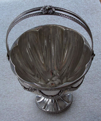 1890 GERMAN EMPIRE NEOCLASSICAL STYLE SILVER BASKET, BOWL, CUP 456 GRAMS