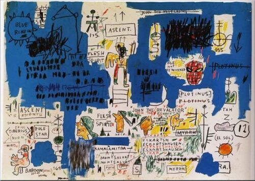 """Jean Michel Basquiat Ascent Abstract Graffiti Oil Painting on Canvas 24x30"""""""